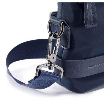 HAUT TON Men's Nylon Canvas Business Single Shoulder Bag Clutch Wrist Handbag Organizer - BLUE