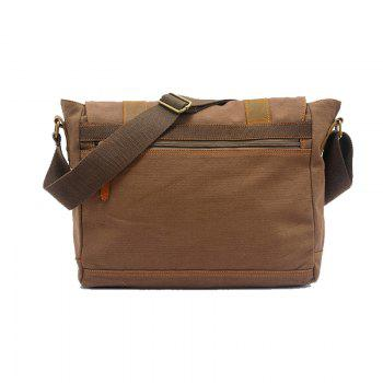AUGUR Handbag Casual Vintage Multifunction Trunk Men Canvas Travel Crossbody Shoulder Messenger Bag Handbag - COFFEE