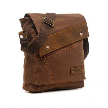 AUGUR Fashion Men Messenger Bag Male Travel Business Crossbody Shoulder Canvas Small Bags - COFFEE COFFEE