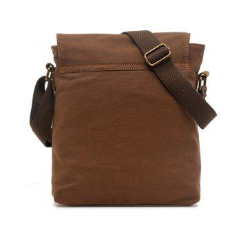 AUGUR Fashion Men Messenger Bag Male Travel Business Crossbody Shoulder Canvas Small Bags -  COFFEE