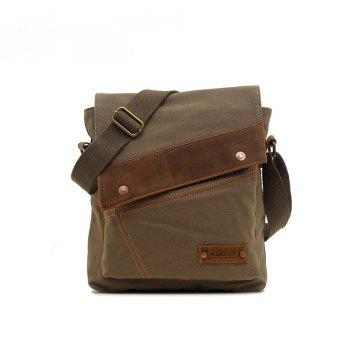 AUGUR Fashion Men Messenger Bag Male Travel Business Crossbody Shoulder Canvas Small Bags - ARMYGREEN