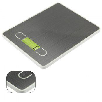 LCD Display Digital Electronic Kitchen Scale 5KG - GRAY