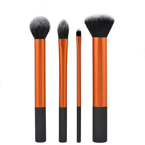 TODOBeauty Real Makeup Brushes 4PCS - GOLD