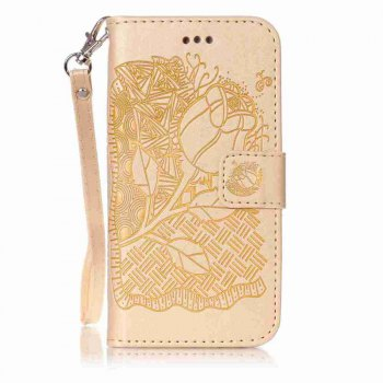 Double Embossed Rich Flowers PU TPU Phone Case for  iPhone 6 / 6S - DAISY DAISY