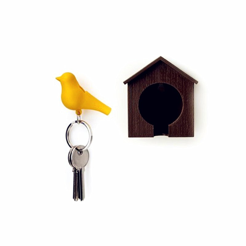 Bird Style Key Ring with Nest - multicolor