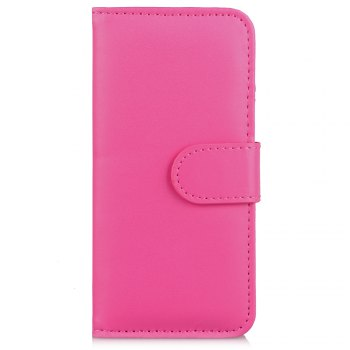 One Hundred Lines Card Lanyard Pu Leather Cover for iPhone 7 - ROSE RED ROSE RED