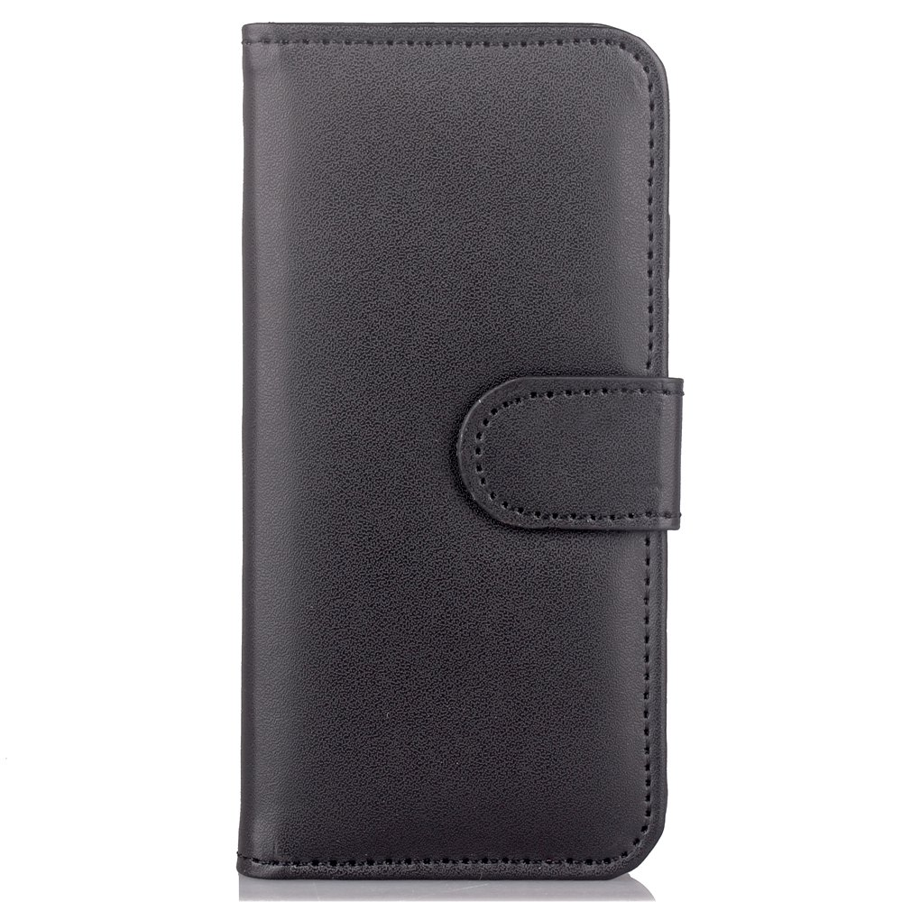 One Hundred Lines Card Lanyard Pu Leather Cover for iPhone 7 - BLACK
