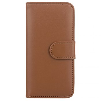 One Hundred Lines Card Lanyard Pu Leather Cover for iPhone 8 - BROWN BROWN