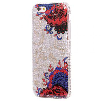 Wkae Flash Powder Mobile Phone Shell Surrounded By Rhinestone for IPhone 6 / 6S - BLUE AND RED BLUE/RED