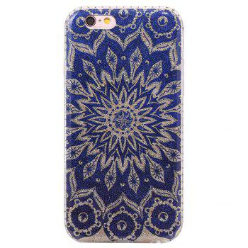 Wkae Flash Powder Mobile Phone Shell Surrounded By Rhinestone for IPhone 6 / 6S -  BLUE