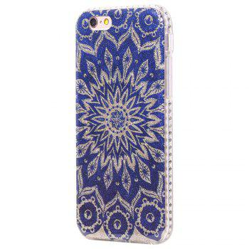 Wkae Flash Powder Mobile Phone Shell Surrounded By Rhinestone for IPhone 6 / 6S - BLUE BLUE