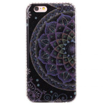 Wkae Flash Powder Mobile Phone Shell Surrounded By Rhinestone for IPhone 6 / 6S -  BLACK/BLUE