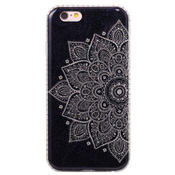 Wkae Flash Powder Mobile Phone Shell Surrounded By Rhinestone for IPhone 6 / 6S -  WHITE/BLACK