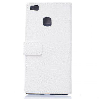 KaZiNe Crocodile Texture Wallet Stand Leather Coverfor  Huawei P9 LITE -  WHITE