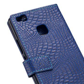 KaZiNe Crocodile Texture Wallet Stand Leather Coverfor  Huawei P9 LITE -  BLUE