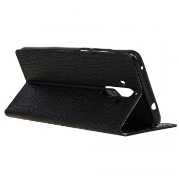KaZiNe Crocodile Texture Wallet Stand Leather Coverfor  Huawei MATE 9 -  BLACK