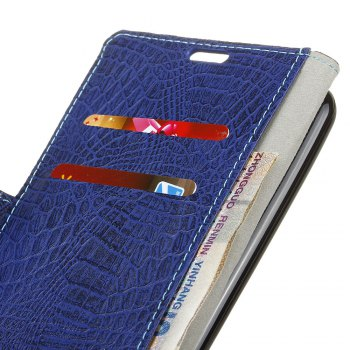 KaZiNe Crocodile Texture Wallet Stand Leather Coverfor  Huawei MATE 9 PRO -  BLUE