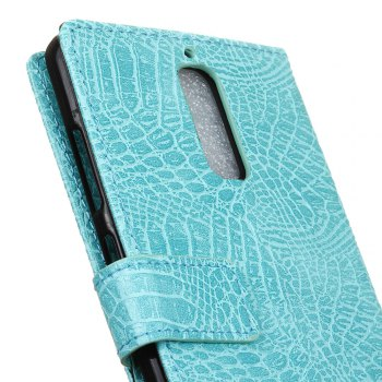 KaZiNe Crocodile Texture Wallet Stand Leather Coverfor  Huawei MATE 9 PRO -  GREEN