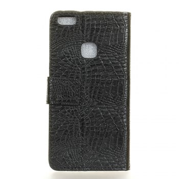 KaZiNe Crocodile Texture Wallet Stand Leather Coverfor Huaweii P10 LITE -  BLACK