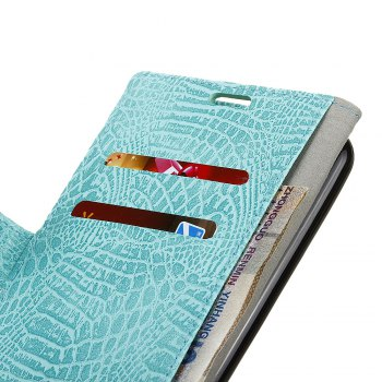 KaZiNe Crocodile Texture Wallet Stand Leather Coverfor Huaweii P10 LITE -  GREEN