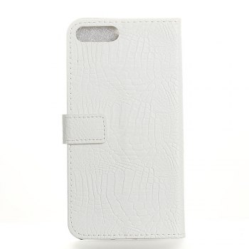 KaZiNe Crocodile Texture Wallet Stand Leather Coverfor iPhone 7 / 8 -  WHITE