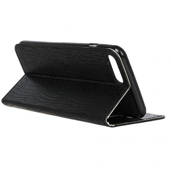 KaZiNe Crocodile Texture Wallet Stand Leather Coverfor iPhone 7 / 8 -  BLACK
