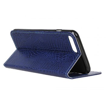 KaZiNe Crocodile Texture Wallet Stand Leather Coverfor iPhone 7 / 8 -  BLUE