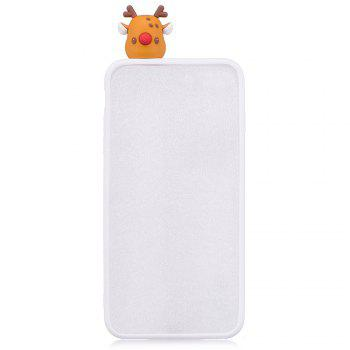 Christmas Tree Santa Claus Reindeer 3D Cartoon Animals Soft Silicone TPU Case for HUAWEI Honor P10 Lite -  WHITE