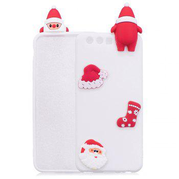 Christmas Hat Tree Santa Claus Reindeer 3D Cartoon Animals Soft Silicone TPU Cas for HUAWEI Honor P10 - WHITE WHITE