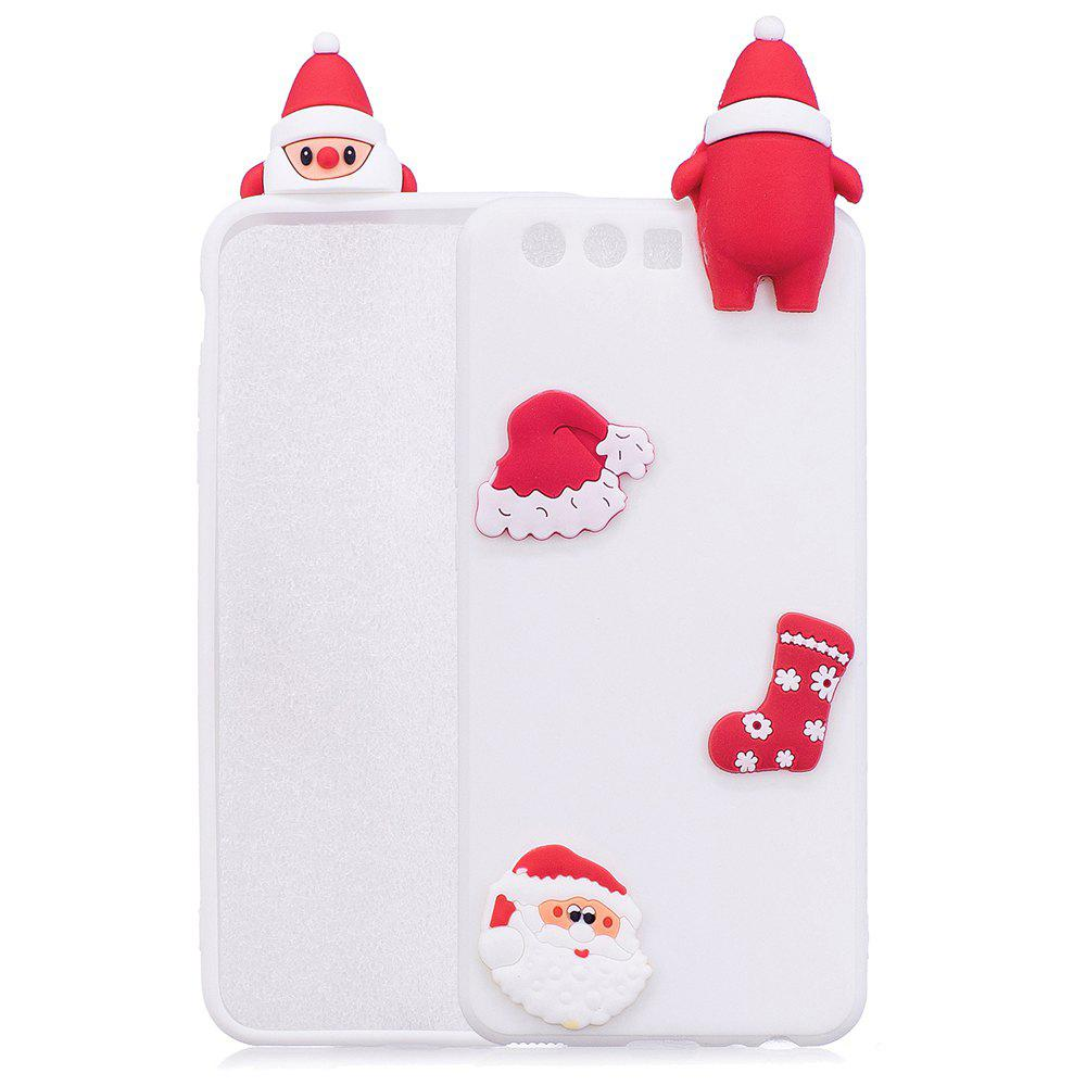 Christmas Hat Tree Santa Claus Reindeer 3D Cartoon Animals Soft Silicone TPU Cas for HUAWEI Honor P10 - WHITE