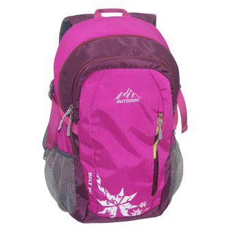 Outdoor Packable Lightweight Travel Hiking Backpack Daypack - ROSE RED ROSE RED