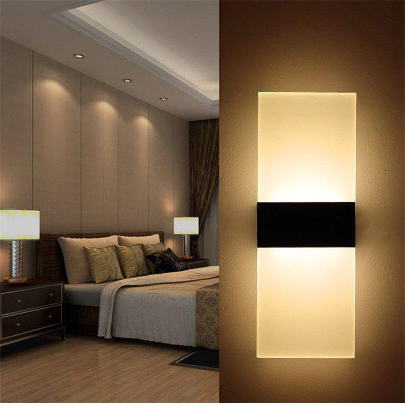 2017 style moderne rectangulaire led couloir salon chambre lampe lampe murale noir s in lampe. Black Bedroom Furniture Sets. Home Design Ideas