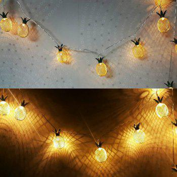 1.5M 10 LED Christmas Pineapple Shaped Bedroom Living Room Decorative Light String - GOLDEN
