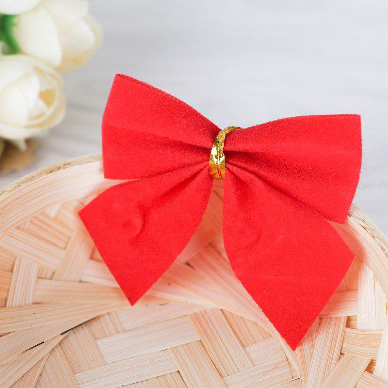 12pcs Pretty Bowknots Ornament Christmas Tree Festival Party Decoration - RED
