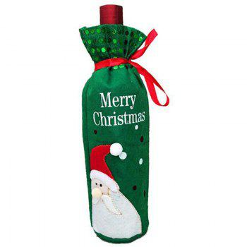 Christmas Decoration Wine Bottle Cover - GREEN GREEN