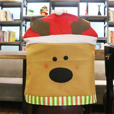 Christmas Decoration Chair Cover Hotel Restaurant Holiday Dressing Supplies - COLORMIX ELK STYEL