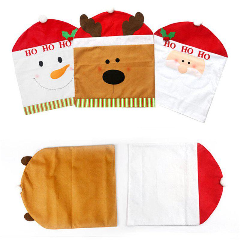 Christmas Decoration Chair Cover Hotel Restaurant Holiday Dressing Supplies - COLORMIX SANTA CLAUS STYLE
