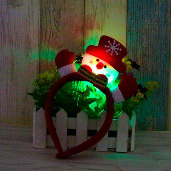 Cute Flashing Christmas Headband LED Headwear for Kids Adults Decoration - RED RED
