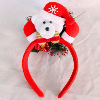 Cute Flashing Christmas Headband LED Headwear for Kids Adults Decoration - RED + WHITE + GRAY RED / WHITE / GRAY