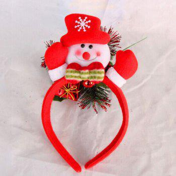 Cute Flashing Christmas Headband LED Headwear for Kids Adults Decoration -  RED