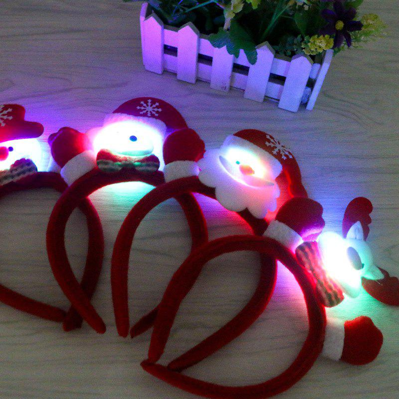 Cute Flashing Christmas Headband LED Headwear for Kids Adults Decoration - RED / WHITE / GRAY