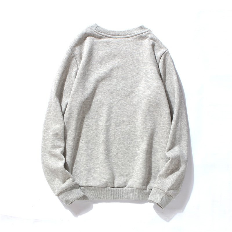 Vêtements d'impression en coton pour hommes Plus Sweatshirt Fashion Loose - gris M