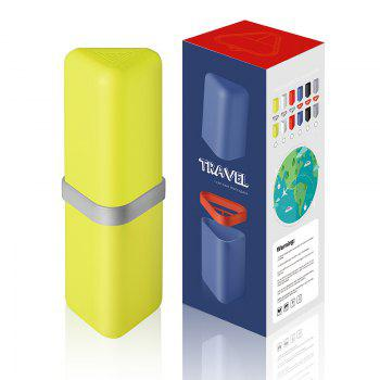 Travel Gargle Cup Toothbrush Toothpaste Suit Storage Box - YELLOW + GREEN YELLOW / GREEN
