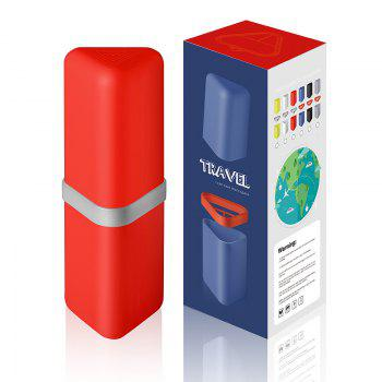 Travel Gargle Cup Toothbrush Toothpaste Suit Storage Box - RED RED