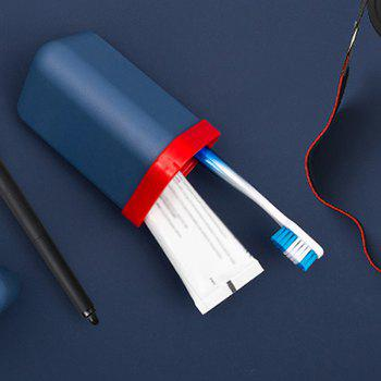 Travel Gargle Cup Toothbrush Toothpaste Suit Storage Box - BLUE