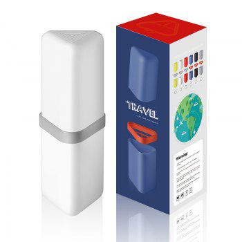 Travel Gargle Cup Toothbrush Toothpaste Suit Storage Box - WHITE WHITE