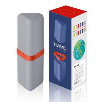 Travel Gargle Cup Toothbrush Toothpaste Suit Storage Box - GRAY GRAY