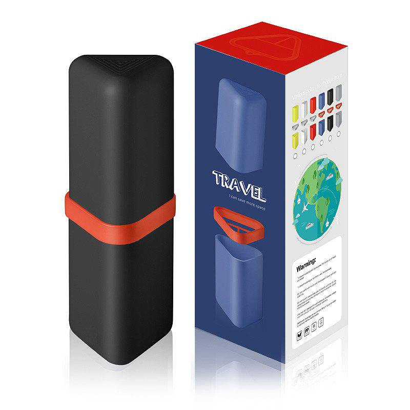 Travel Gargle Cup Toothbrush Toothpaste Suit Storage Box - BLACK