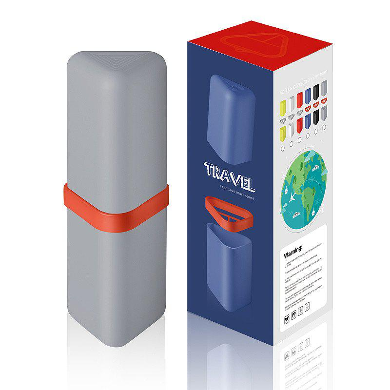 Travel Gargle Cup Toothbrush Toothpaste Suit Storage Box - GRAY