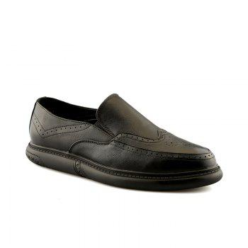 Men Slip on Brogue Leisure Leather Shoes